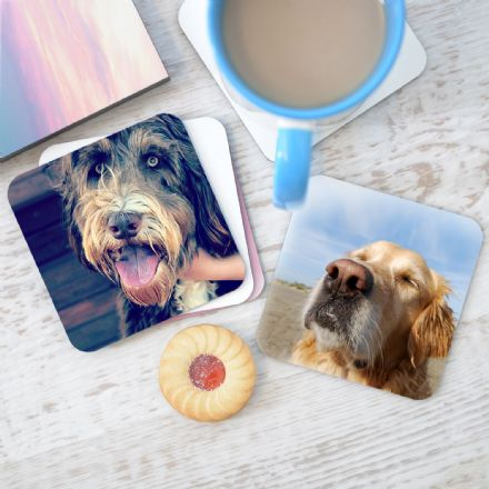 Personalised Pet Photo Coasters Set Of Four